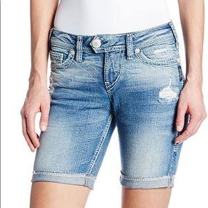 Silver Jeans Tuesday Bermuda Denim Shorts 27 4